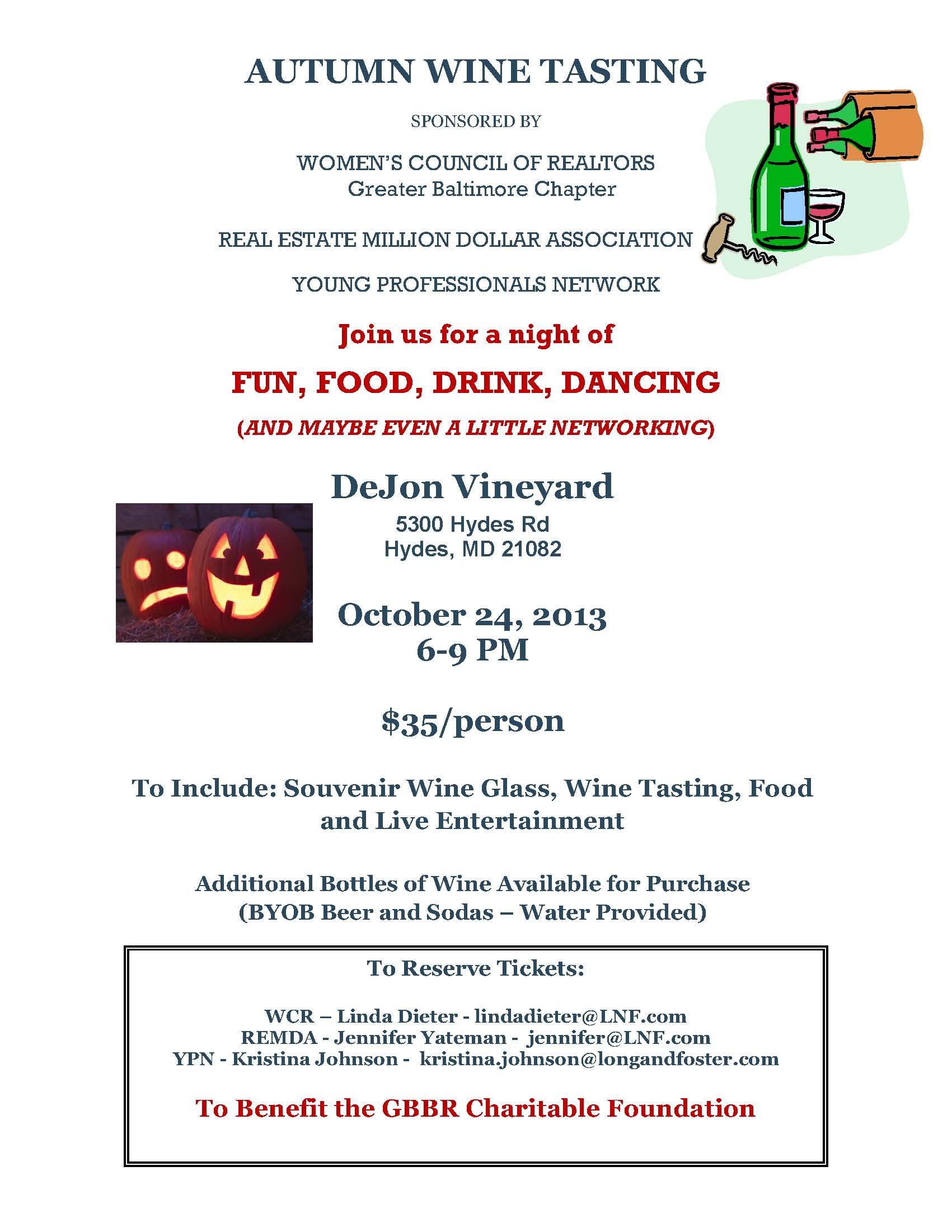 Wine Tasting Flyer 2013