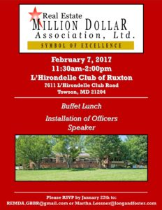 February Luncheon @ L'Hirondelle Club | Towson | Maryland | United States