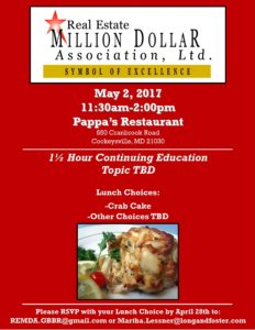 May Luncheon @ Pappas Restaurant | Cockeysville | Maryland | United States
