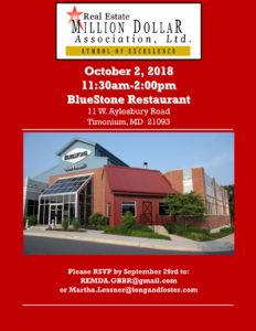 October Luncheon @ Bluestone Restaurant | Lutherville-Timonium | Maryland | United States