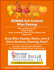 REMDA Fall Festival Wine Tasting @ Hunt Valley Country Club | Phoenix | Maryland | United States